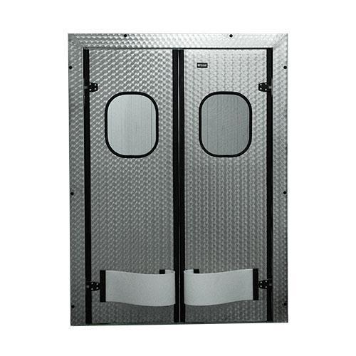Маятниковые двери из нержавейки