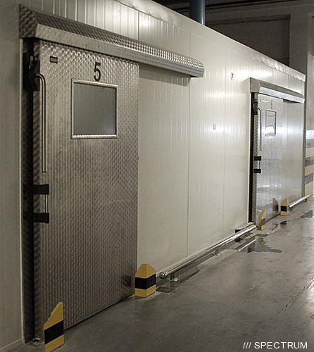 Купить двери холодильные откатные
