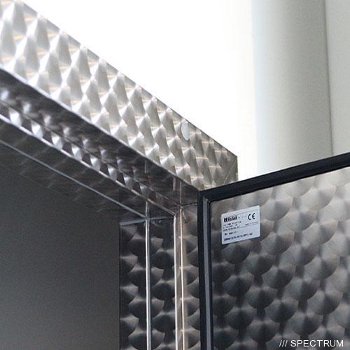Морозильные двери двустворчатые с резиновым уплотнителем