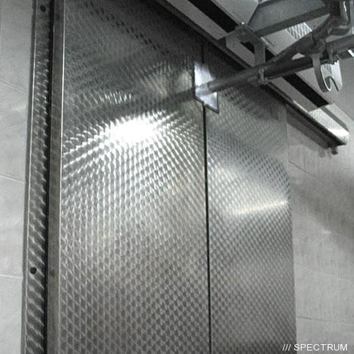 Купить холодильные двери откатные двустворчатые