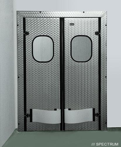 Маятниковые двери двухстворчатые