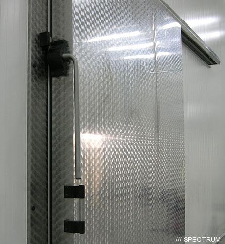 Морозильные двери откатные нержавеющие